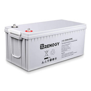 Grey 200 watt deep cycle van battery