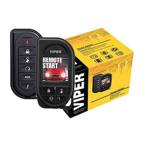 Black car alarm and remote start set