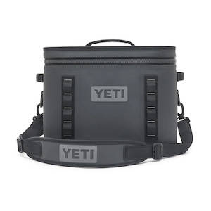 Black yeti cooler for road trips and traveling