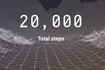 Screenshot of 20,000 steps on the Sweatcoin app