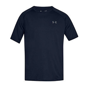 Blue breathable athletic shirt