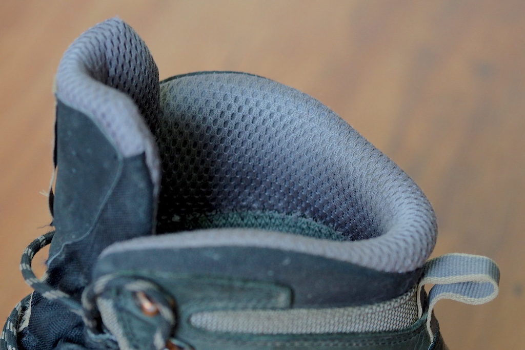 A close view of the ankle collar on the Salomon Quest 4D 3 GTX Boot