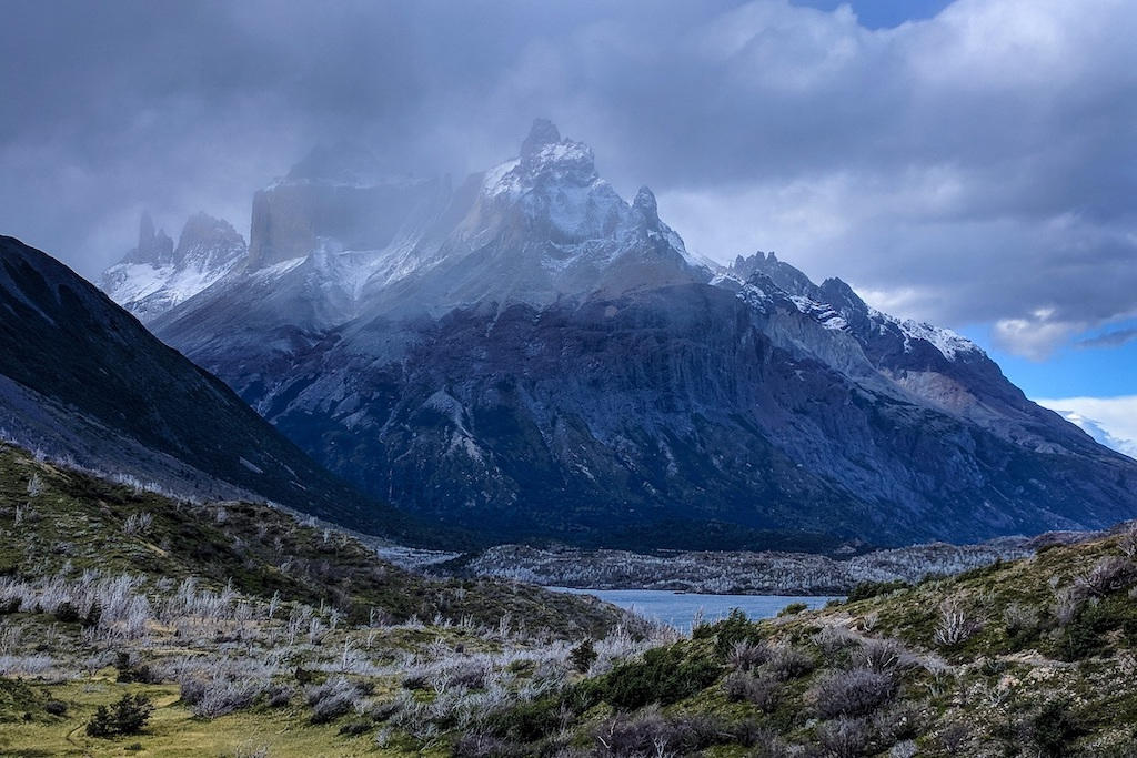 Dark clouds over Torres del Paine