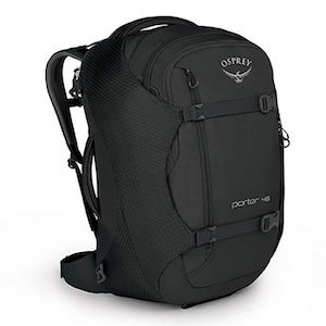 Black carry-on only backpack