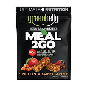 Greenbelly Meal 2GO caramel apple backpacking meal bars