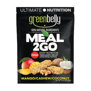 Greenbelly Meal 2GO mango cashew backpacking meal bars