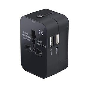 Travel adapter with many ports