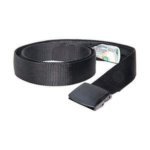 Travel belt with hidden money