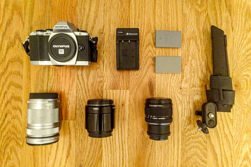 Lightweight travel photography gear