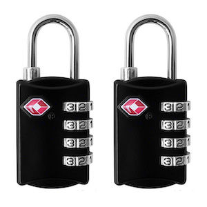 Black luggage locks