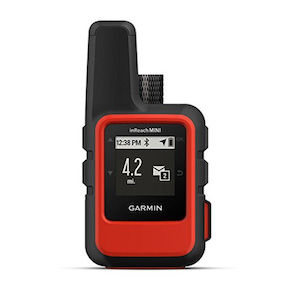 A black and red GPS/satellite beacon