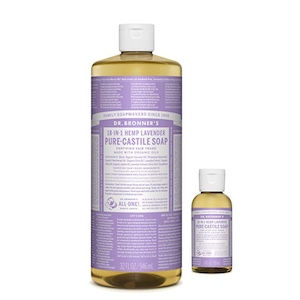 Dr. Bronner's biodegradable lavender soap