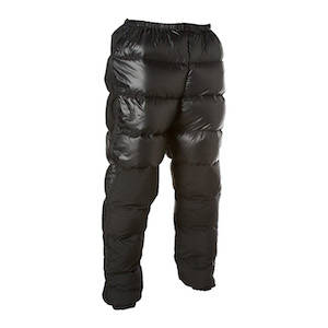 Puffy black down insulated pants