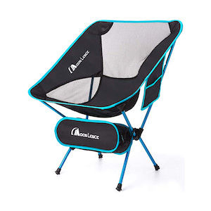 Foldable black camping chair
