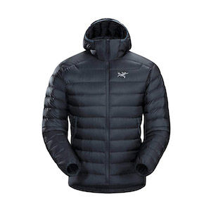 A black puffy REI gift hiking jacket