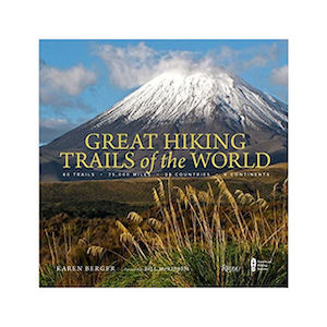 "A book titled ""Great Hiking Trails of the World'"