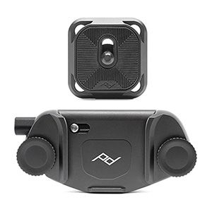 A black aluminum alloy camera clip