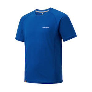 A blue Merino wool t-shirt