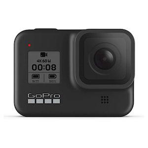 A black GoPro camera