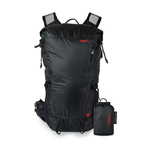 A black minimalist travel backpack
