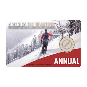 An REI gift National Parks Pass for the US