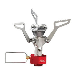 A collapsible camping, hiking, and backpacking stove