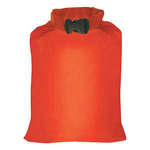 Orange dry sack for hiking and backpacking