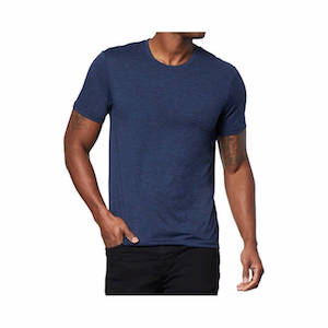 A navy blue breathable athletic shirt for outdoor lovers