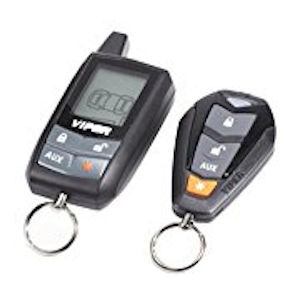 A car alarm security system with two clickers