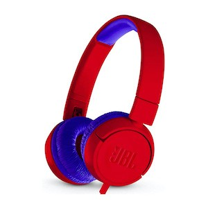 Blue and red kids headphones