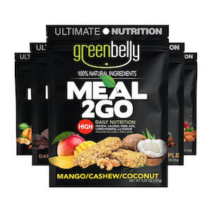 A variety pack of Greenbelly backpacking food