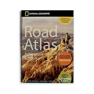 A National Geographic road atlas