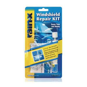 A minimalist travel windshield repair kit