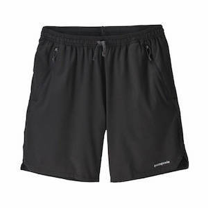 Black hiking and backpacking shorts with zippered pockets