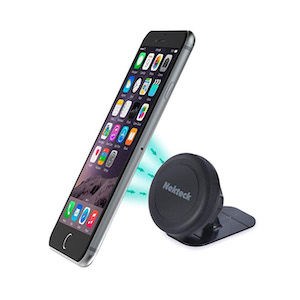 A magnetic cell phone mount