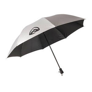 Silver Zpacks brand backpacking and hiking umbrella