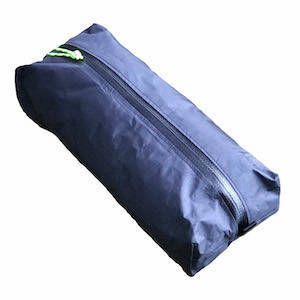 Black ultralight ditty bag with zipper