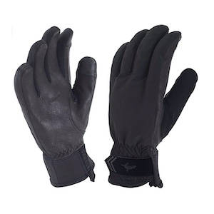 Two black waterproof and windproof gloves