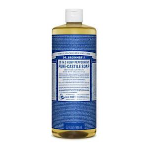 Biodegradable peppermint castille soap
