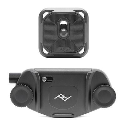 Grey minimalist aluminum camera clip