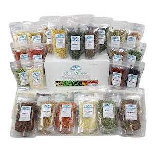 Assortment of 32 packages of freeze-dried vegetables by Harmony House Foods