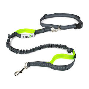 Hands-free dog leash for hiking, backpacking, and trail running