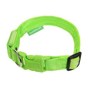 Green light up dog collar