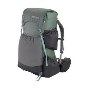 Grey ultralight backpack for multi-day hikes and backpacking trips