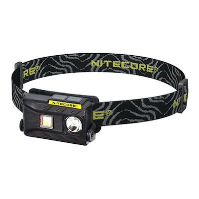 Black lightweight headlamp