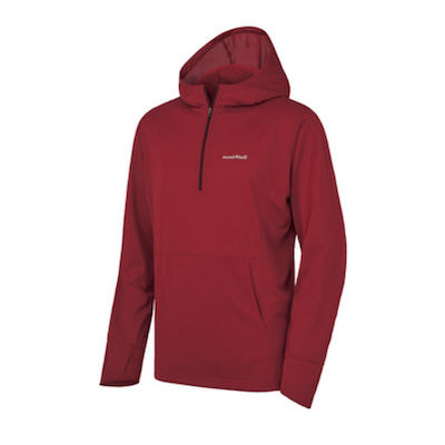 Red lightweight hiking hoodie