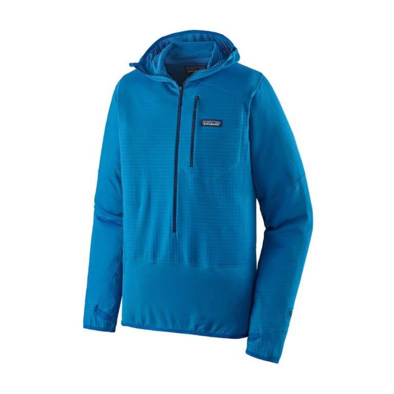 Blue Patagonia R1 pullover hoody